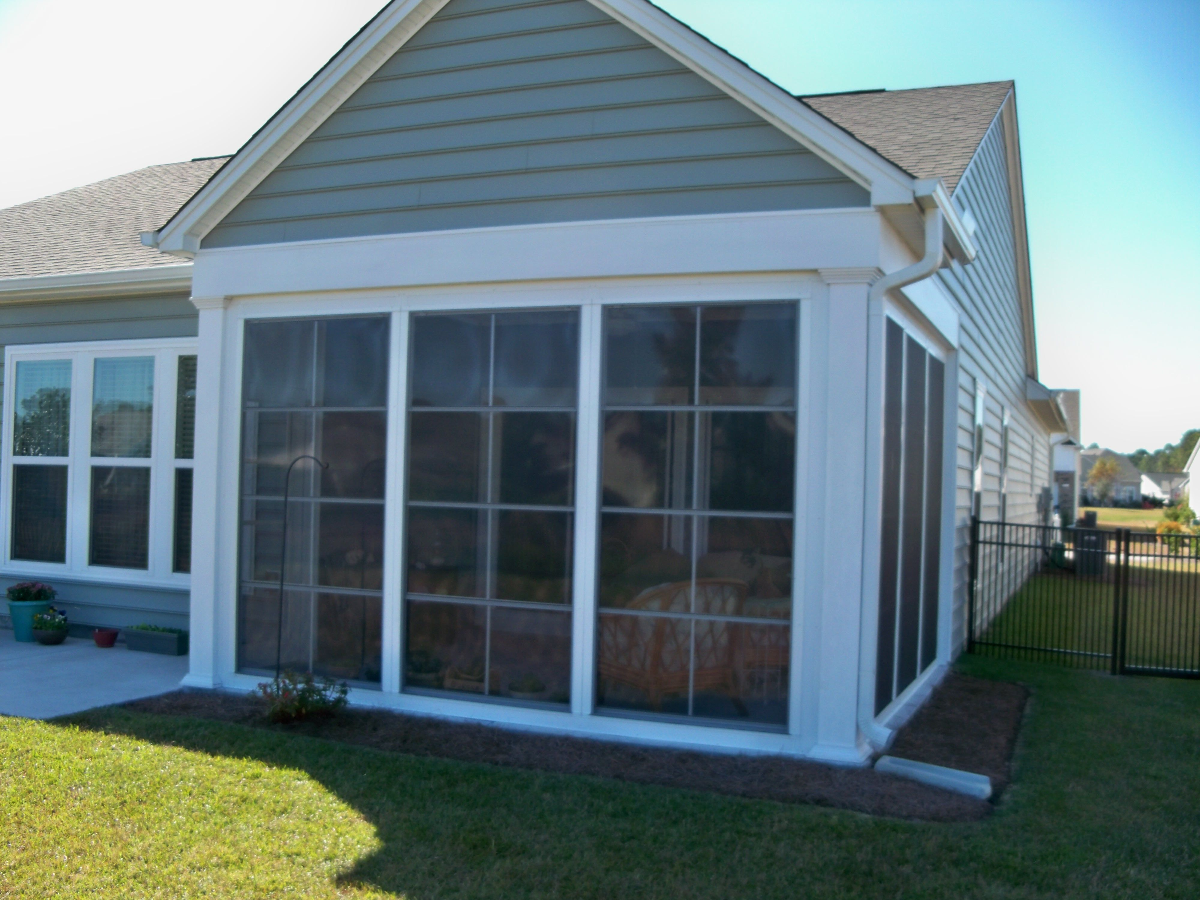 Captivating Enclosed Porches And Sunrooms | The Sunroom Store   Wilmington U0026 Greenville  NC | Sunrooms U0026