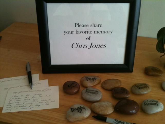 Memory Table Ideas birthdays Memory Stones And Memory Cards Provide A Great Way To Personalize A Celebration Of Life