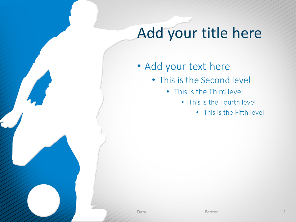 Soccer PowerPoint Template Blue - PresentationGO.com