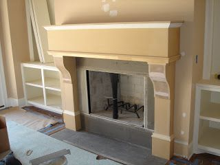 Faux Daddy Designs: Faux Limestone Fireplace with e-Crete one ...