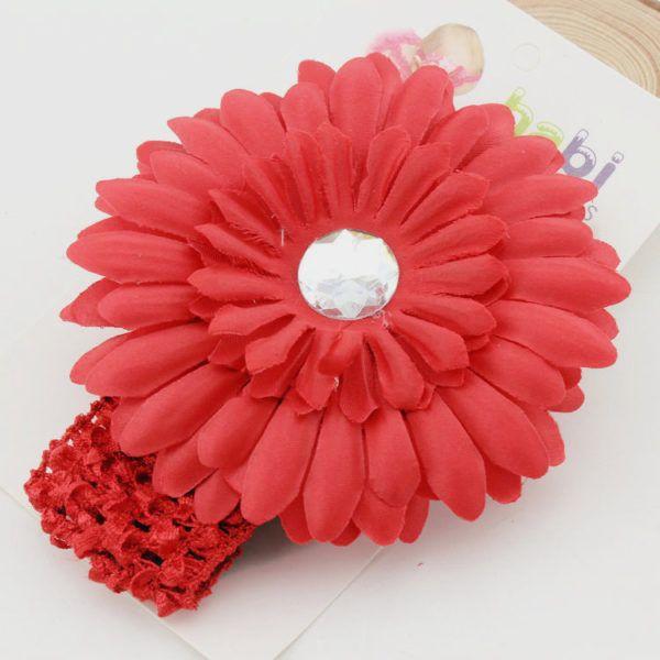 Newborn Baby Elastic Ribbon flower crystal Handmade Headband Infant Kids Hair Girl hair accessories #kidshairaccessories