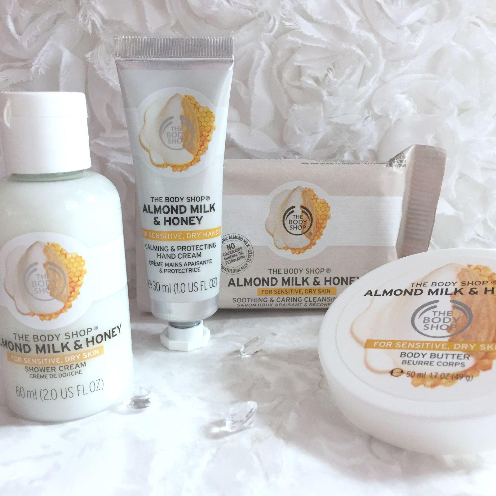 The Body Shop Almond Milk And Honey Range The body shop