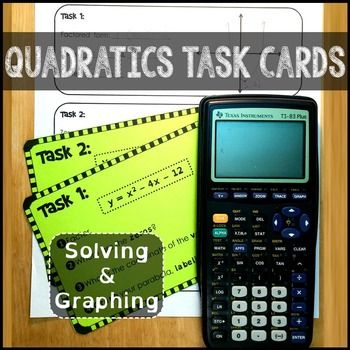 Students solve and graph quadratic equations in this task