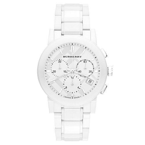 Burberry Bu9080 White Ceramic Chronograph Womens Watch White Watches Women Burberry Watch Women Watches Jewelry