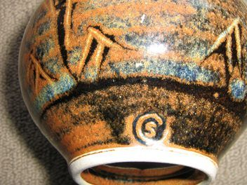 Impressive Nz Pottery Quality Steven Carter Vase Pottery