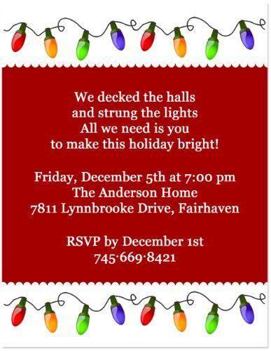 Christmas Lights Holiday Party Invitation 5x7 Set Of 20 By Blessexpre Christmas Party Invitations Funny Christmas Party Invitations Holiday Party Invitations
