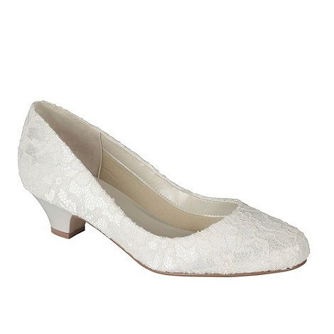 The Ivory Satin Lace Bon Is A Low Heel Round Toe Court Pink Paradoxlondon Shoesbridal