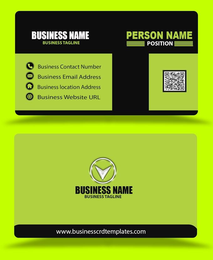 Black Green Business Card Template Psd Eps Files Format Free Download Business Card Template Psd Business Card Template Free Business Card Templates