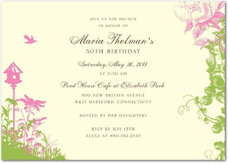 Garden Party Wedding Invitation Themes