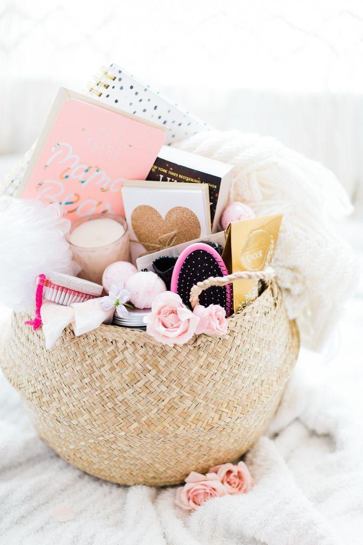 Lemon stripes diy baby shower gifts mom gift basket