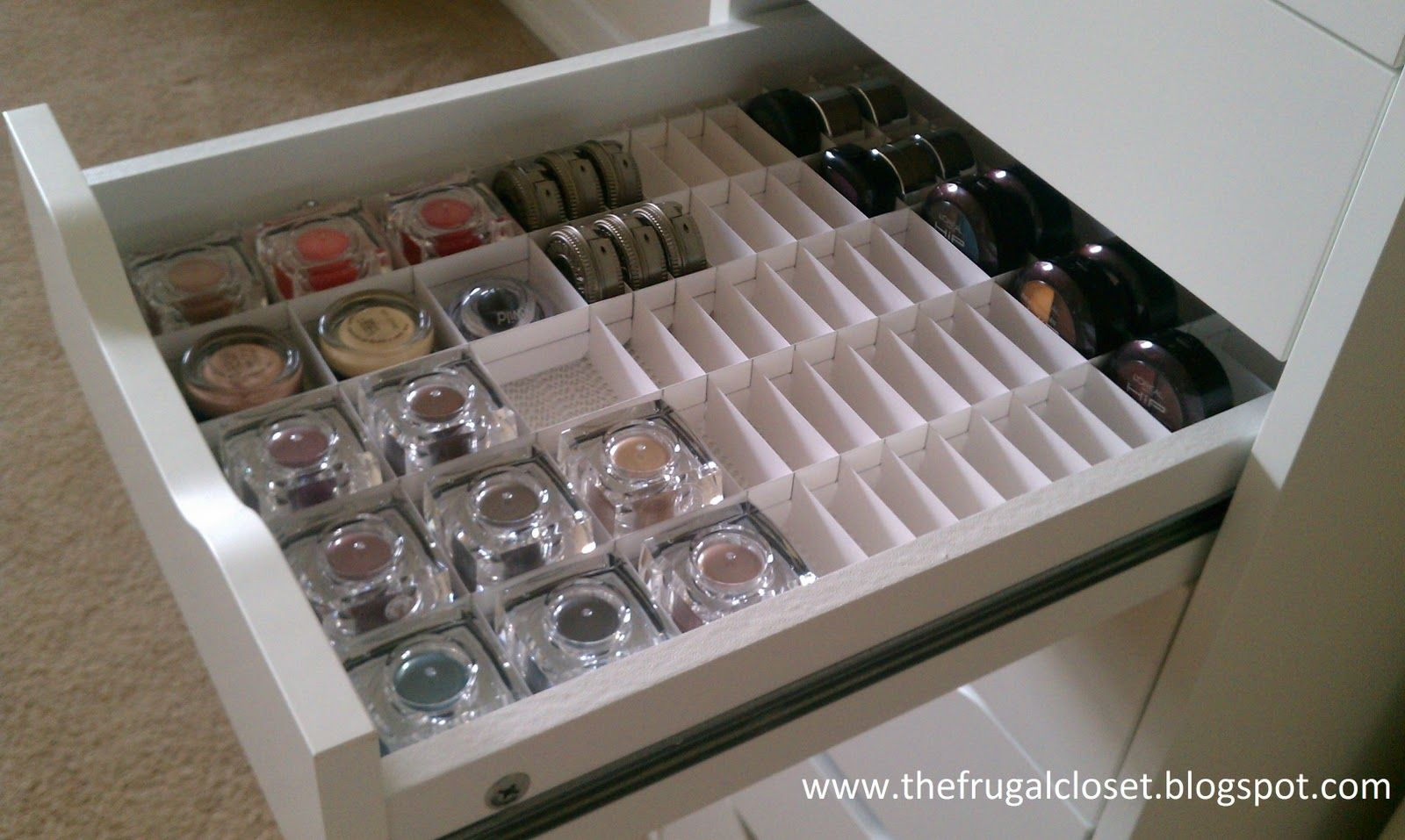 The frugal closet the ikea alex storage and handmade Makeup drawer organizer ikea