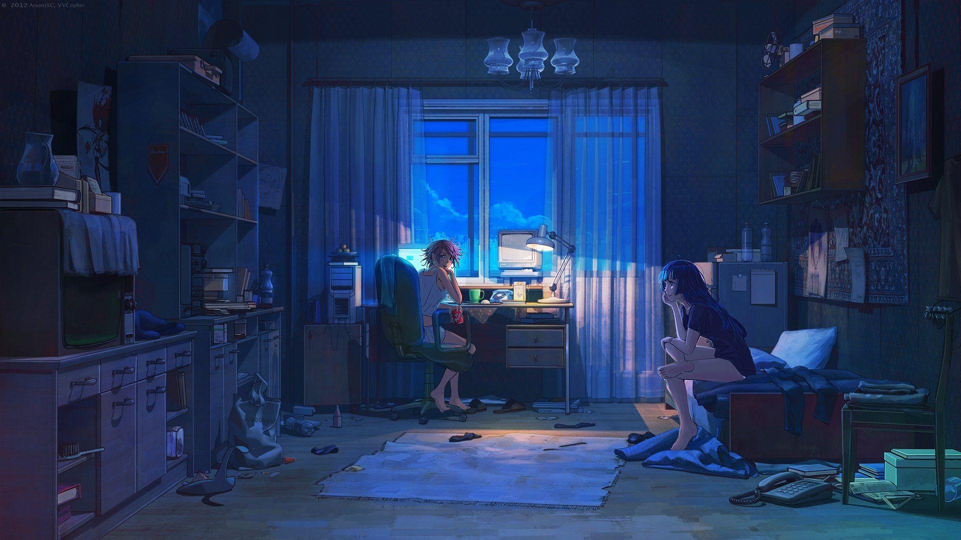 Bedroom House Anime Scenery Background Wallpaper Anime