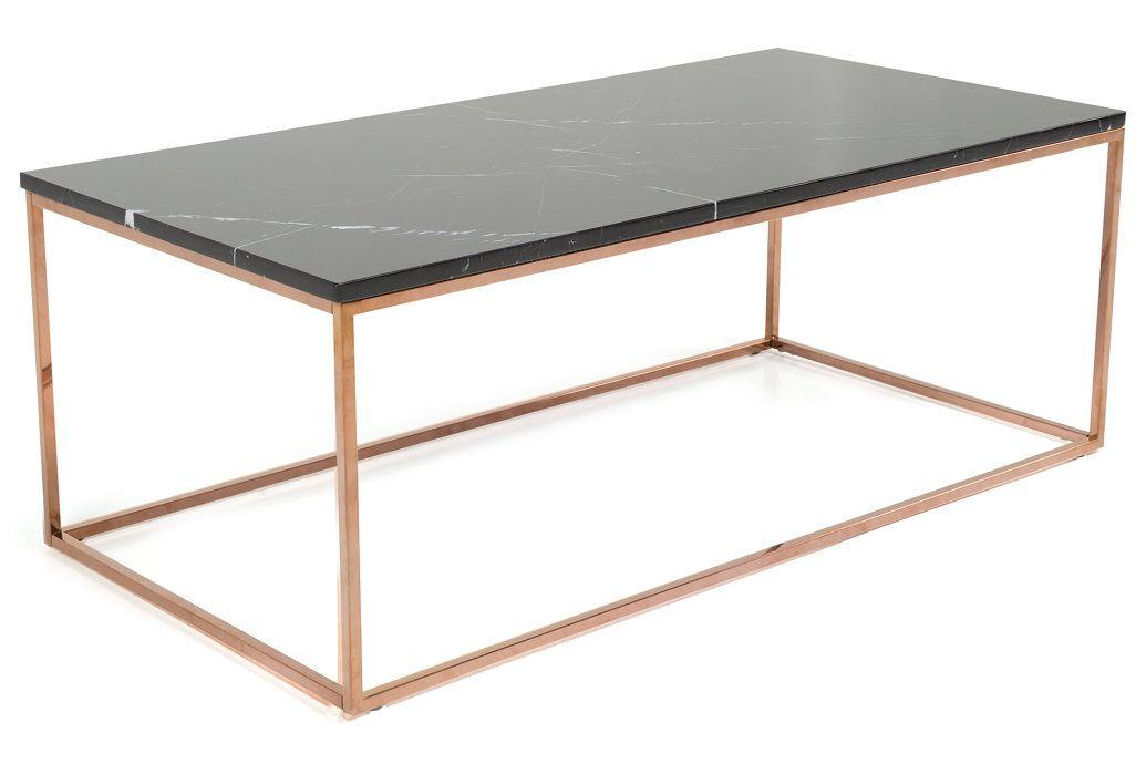 Carrie Soffbord Svart Marmor Koppar 120x60x45 cm  Trademax se Furniture ; Ping pong table