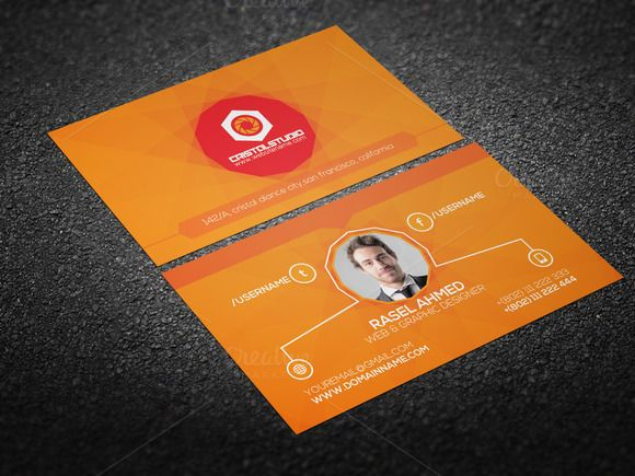 Personal business card by cristal pioneer on creative market personal business card templates corporate clean business card template is very easy to use and change textcolorsizelook and by cristal pioneer wajeb Gallery