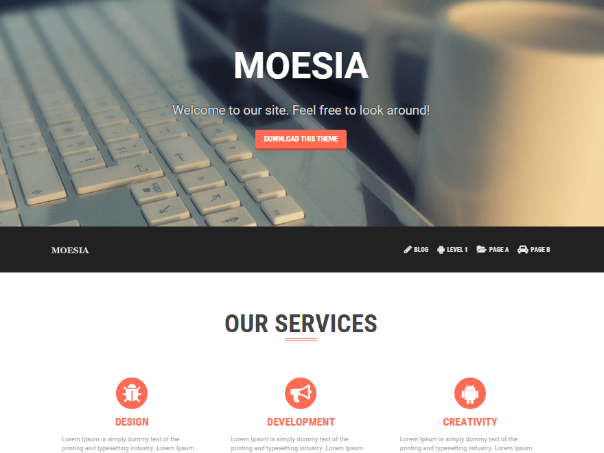 Download Free Moesia Wordpress theme | Best Free Wordpress themes
