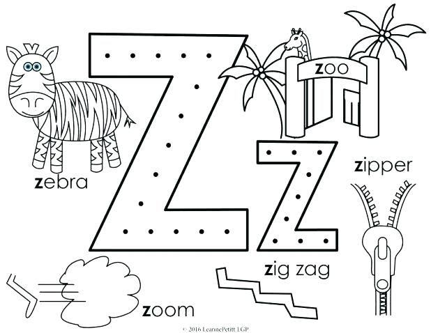 zipper coloring page zipper coloring page letter z