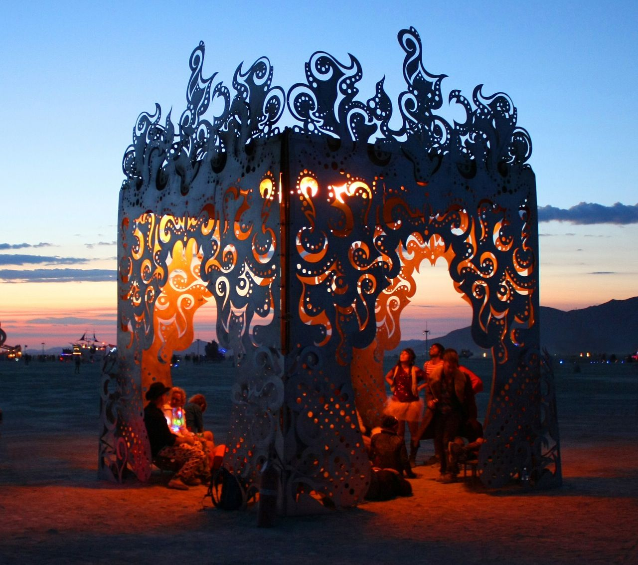 Burning Man 2009 Poetic Holding Flame Burning