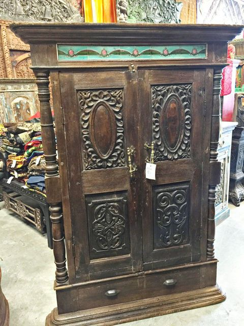 Antique India Teak Window Terrace India Furniture Rare Rustic