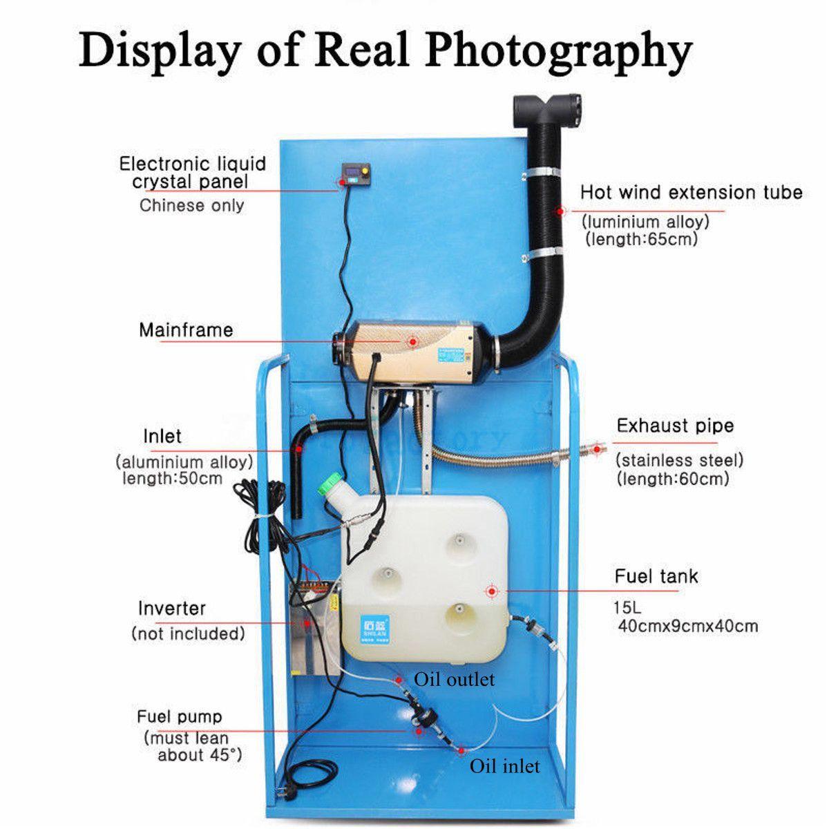 24v12v 5kw diesel air parking heater diesel heating with