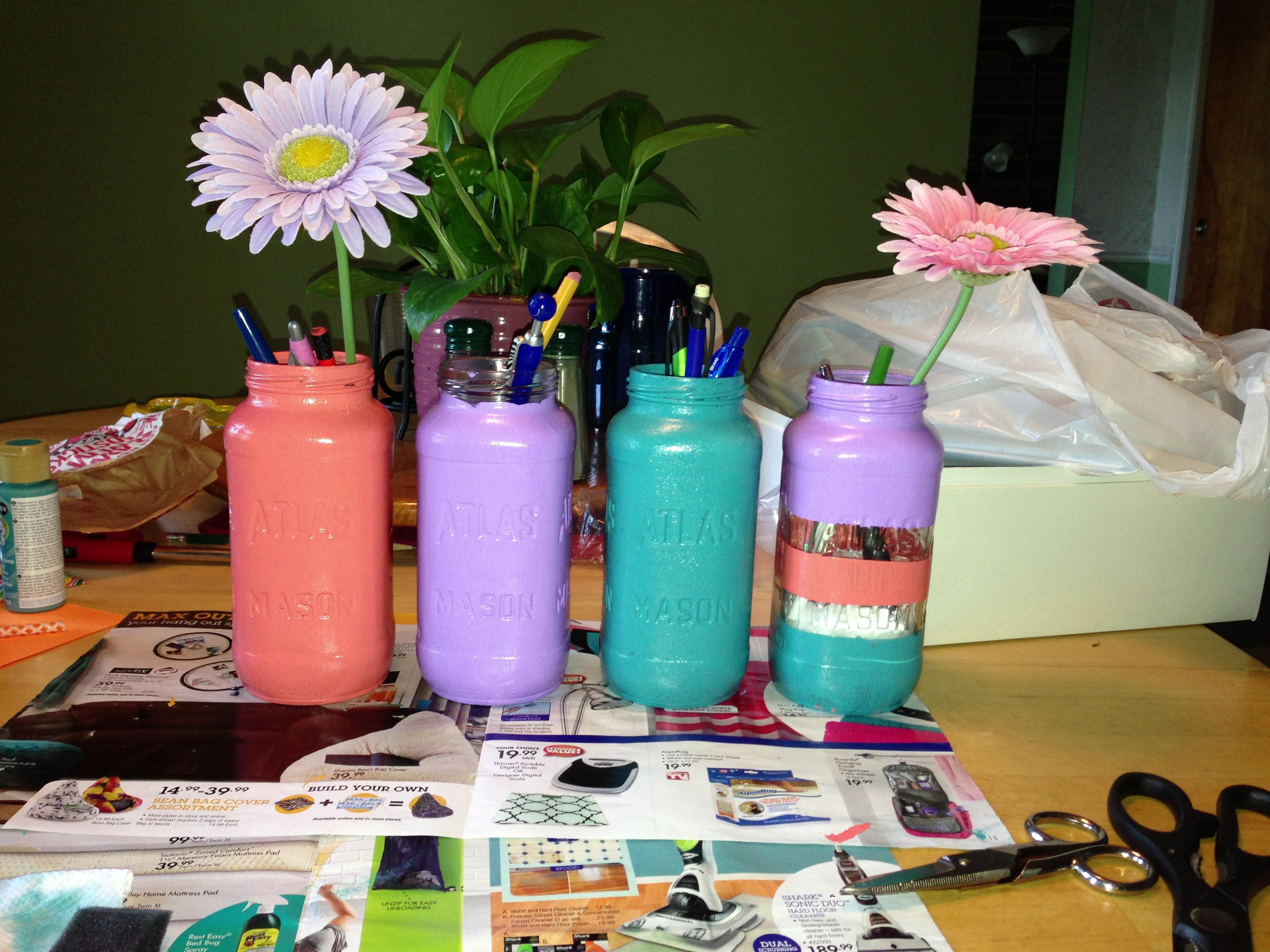 College dorm idea diy desk pencil holders ideas for Diy desk decor pinterest