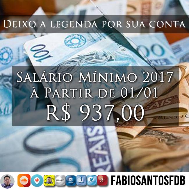 Deixo a legenda por sua conta e aqui fica o link da matéria que obtive a notícia. #saláriomínimo2017