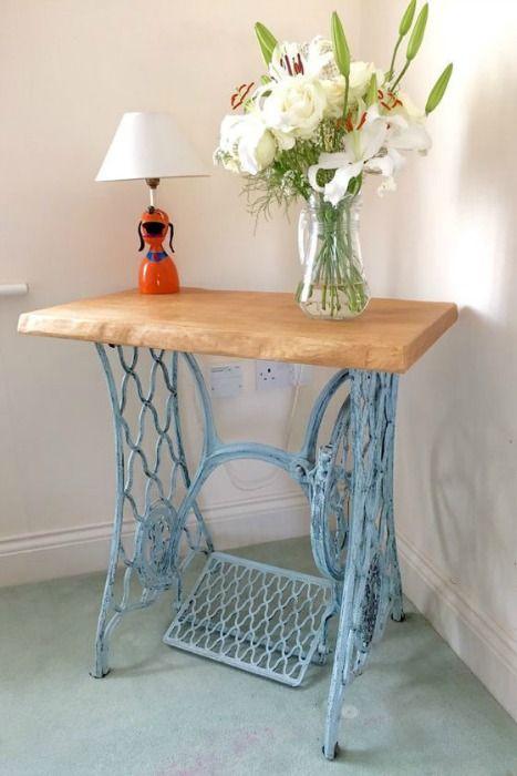 MESA SINGER | Muebles con material reciclado, Mesa industrial y ...