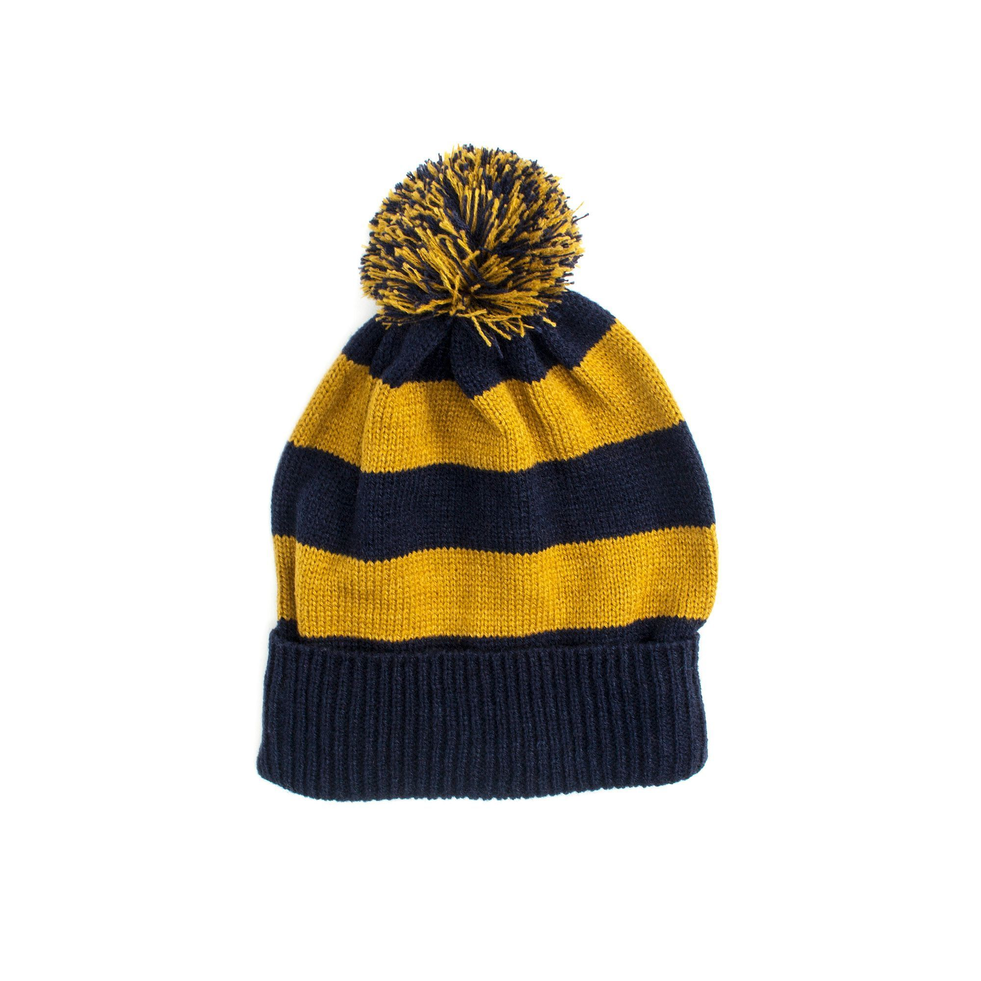 f984bcc6d MUK LUKS Game Day Striped Beanie, Women's, Blue (Navy) | Products ...