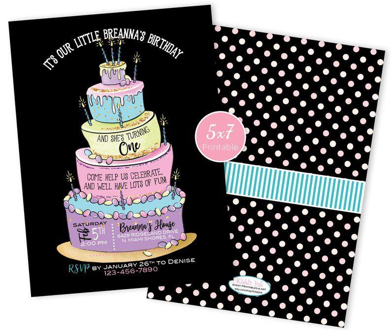 Surprising A Topsy Turvy Cake Birthday Invitation Printable Birthday Funny Birthday Cards Online Hetedamsfinfo