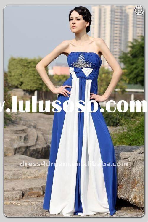 Blue And Cream Bridesmaid Dresses