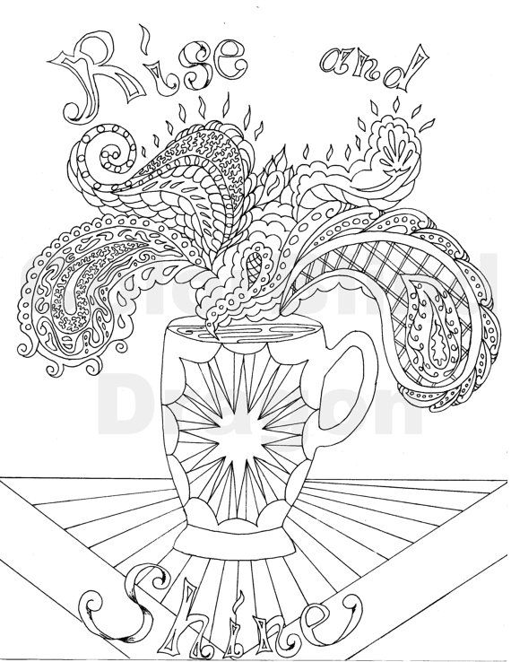 coffee coloring page coloring pages coffee java steam hot mug cup fancy table star paisley design drawing