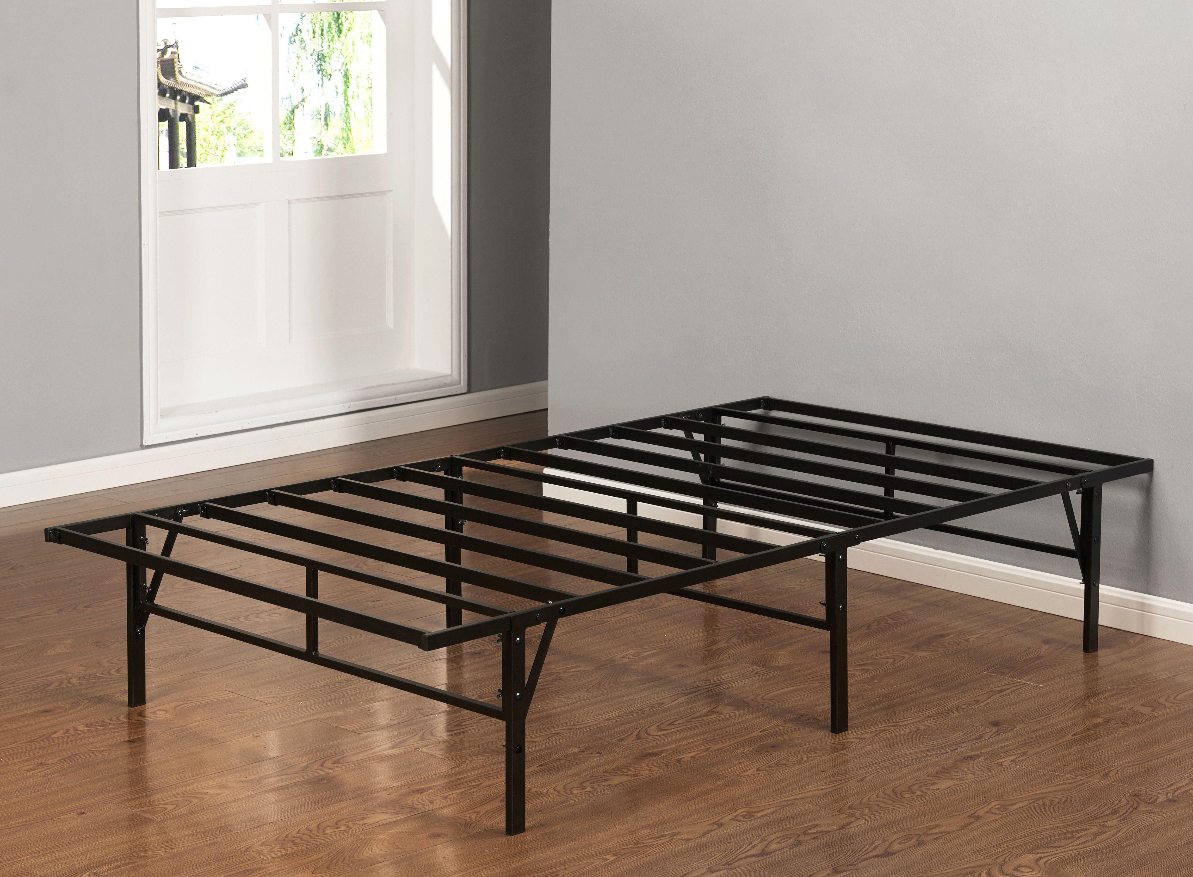 Hanna Platform Bed Frame Black Metal Twin Platform Bed Frame