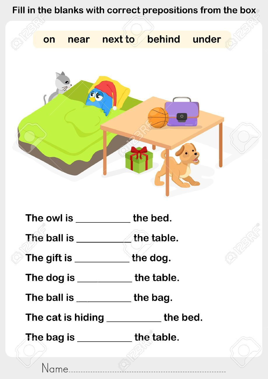 Prepositions With Pictures Worksheets With Images Preposition