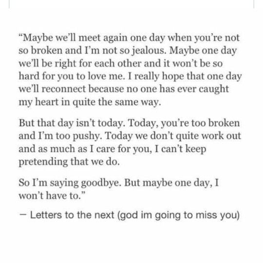 Maybe Well Meet Again One Day For Now Im Saying Goodbye