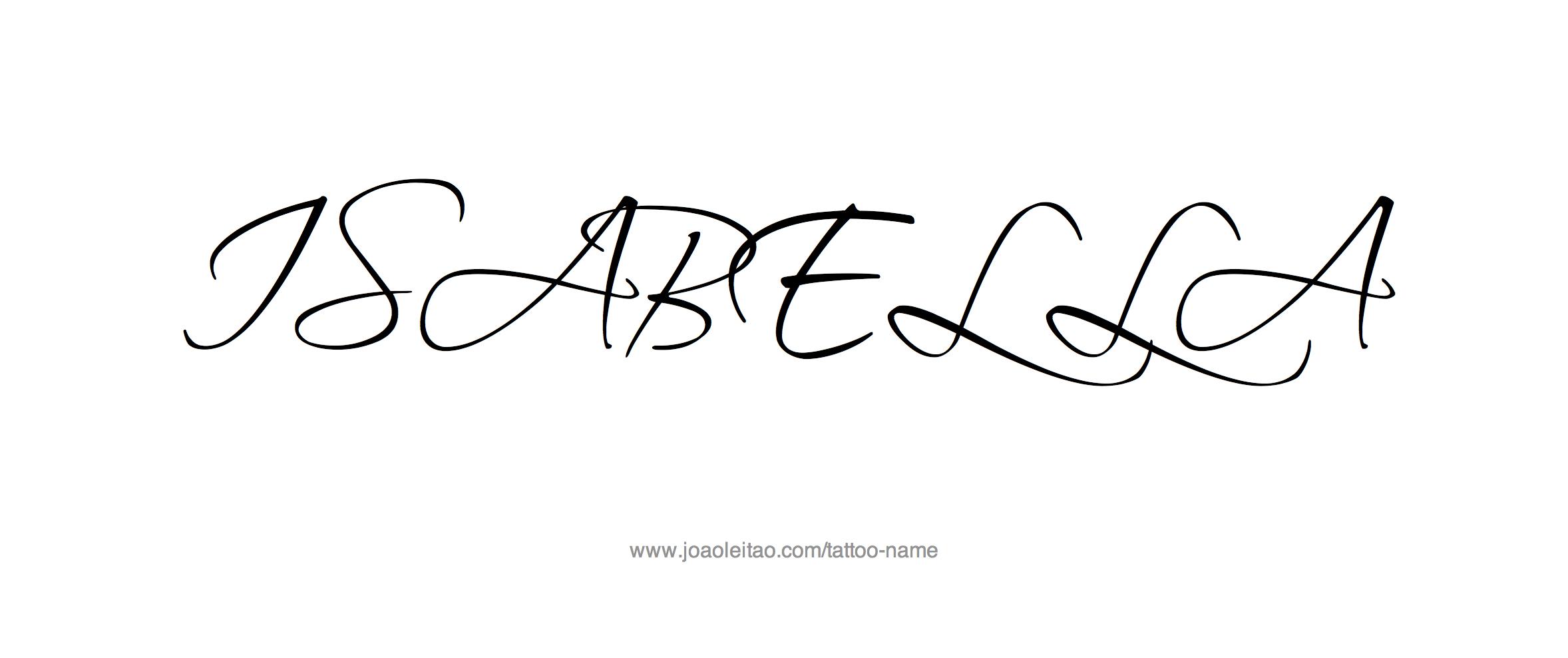 isabella name tattoo designs nombres dise o y dise os tatuajes. Black Bedroom Furniture Sets. Home Design Ideas