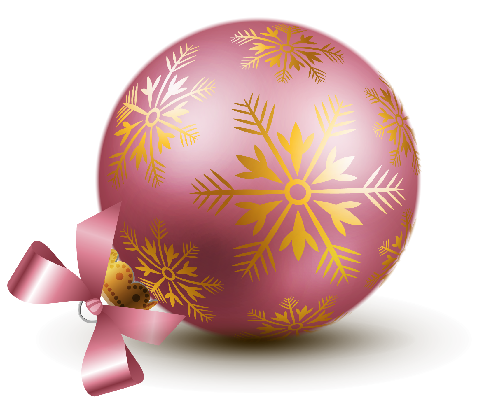 Decorated Christmas Balls Transparent Pink Christmas Ball Ornaments Clipart  Клипарты
