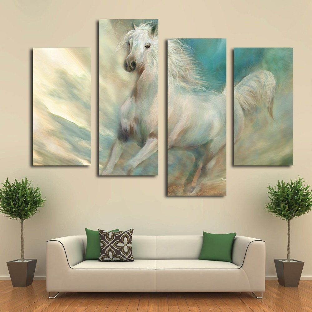 Fashion 4 panel painting home decorative hang wall art