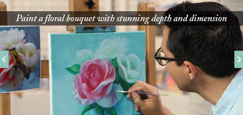 Learn How to Paint Flowers in Acrylic with this Free Online Painting ...