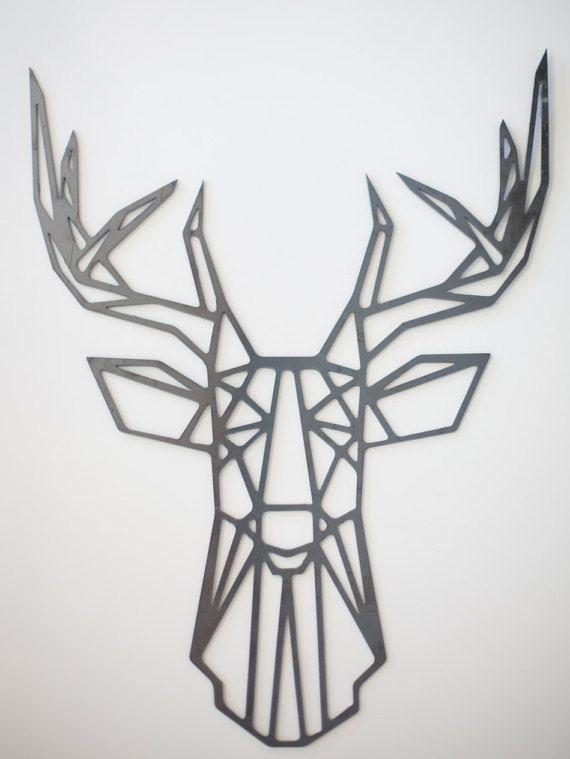 Steel Geometric Deer Wall Art By FactoryCustomFab On Etsy