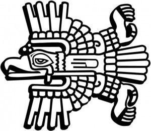 Aguila Maya 300x262 Jpg 300 262 Aztecas Dibujos Simbolos Mayas Culturas Prehispanicas De Mexico