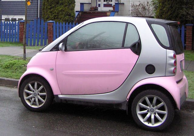Smart Car In Pink Colour Also Cute What Lol Like Toy Car No One