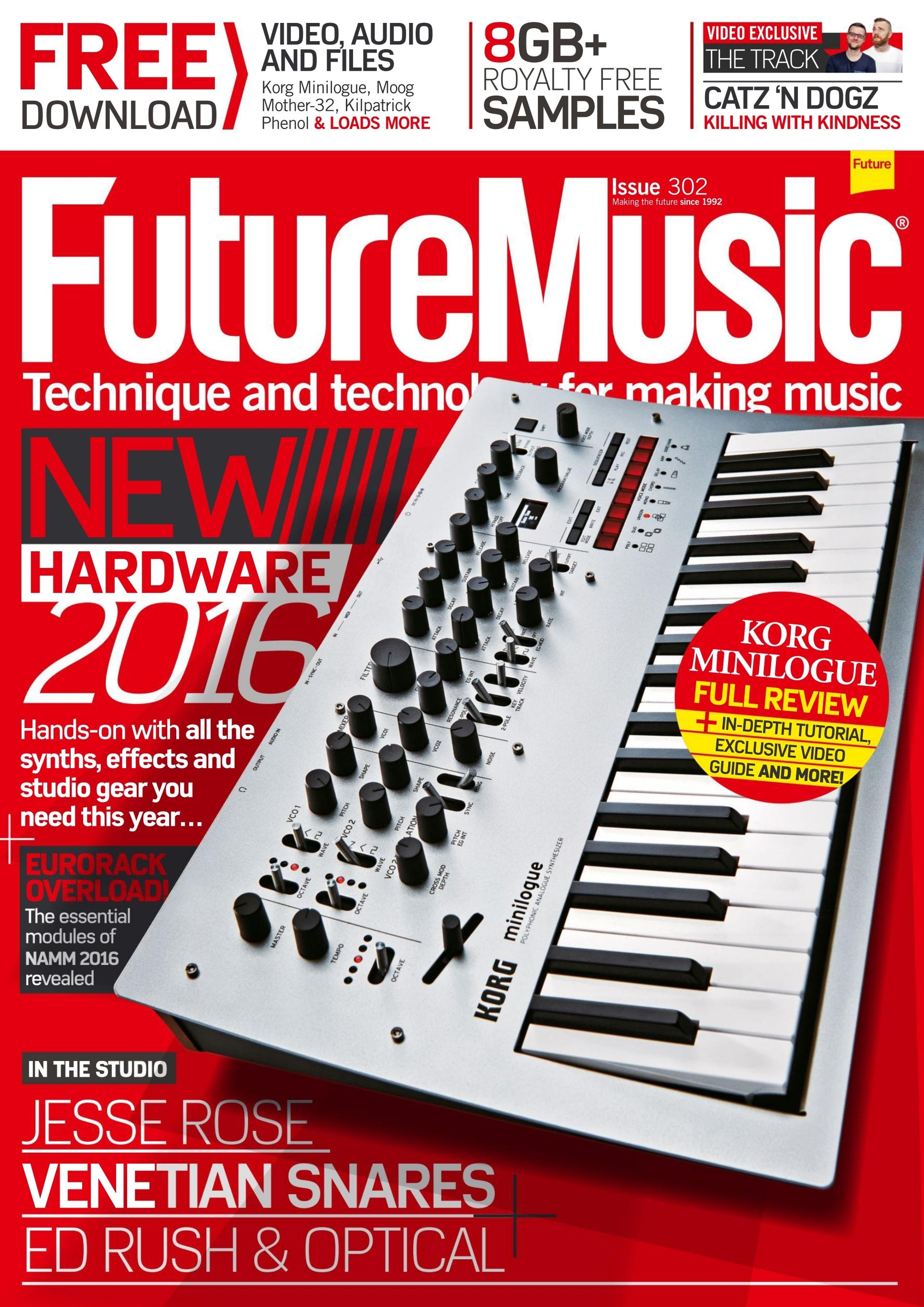 #Future #Music Magazine 303. New #hardware 2016! Hands-on with all the #synths, #effects and #studio gear you need this year...