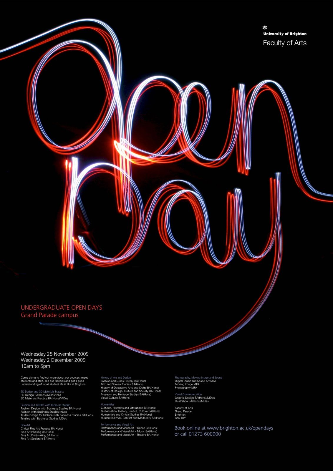 3d poster design online - Open Day Poster