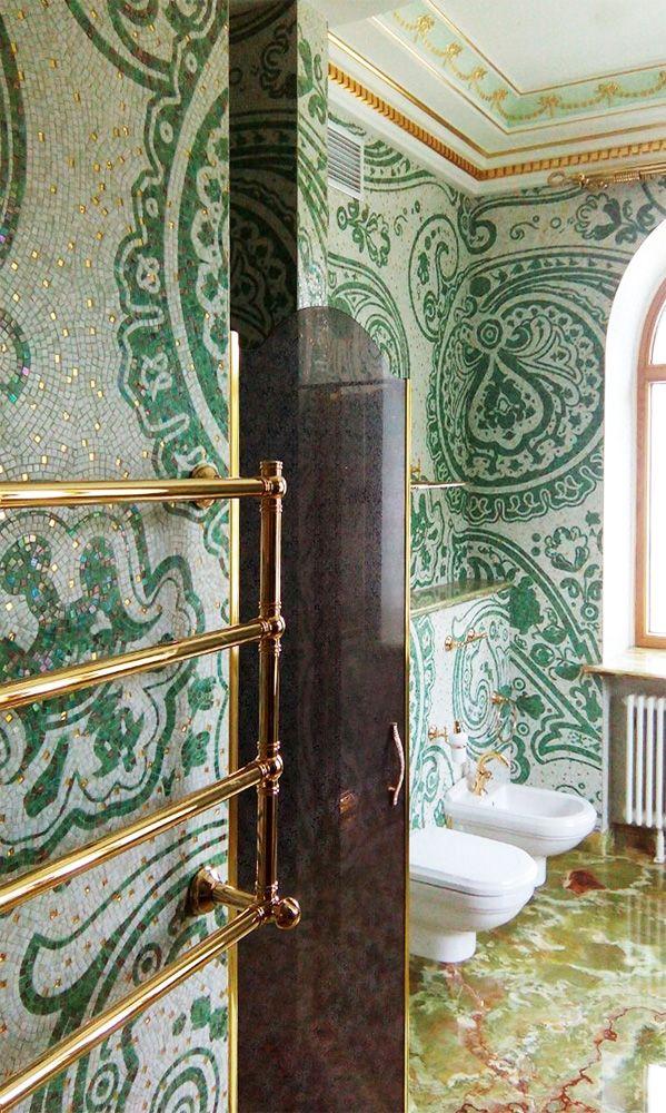 Cosa pensate di questo bagno in mosaico artistico? - What do you ...