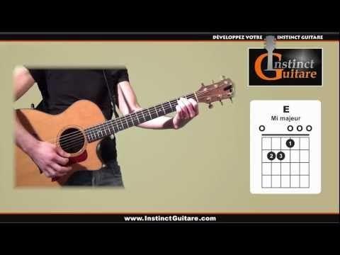 Les 8 principaux accords à la guitare - YouTube | Guitare ...