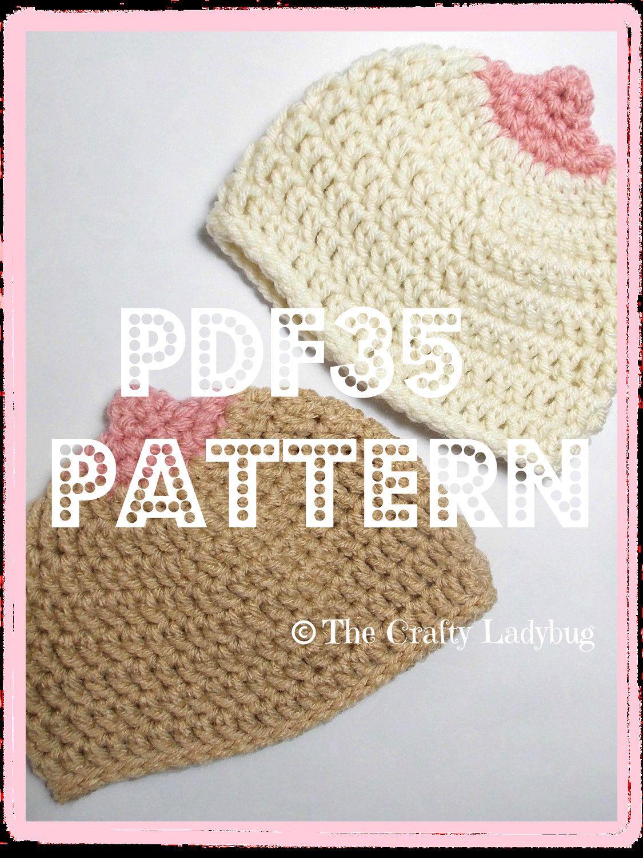 ADULT CONTENT Boobie beanie hat crochet pattern - breast cancer ...