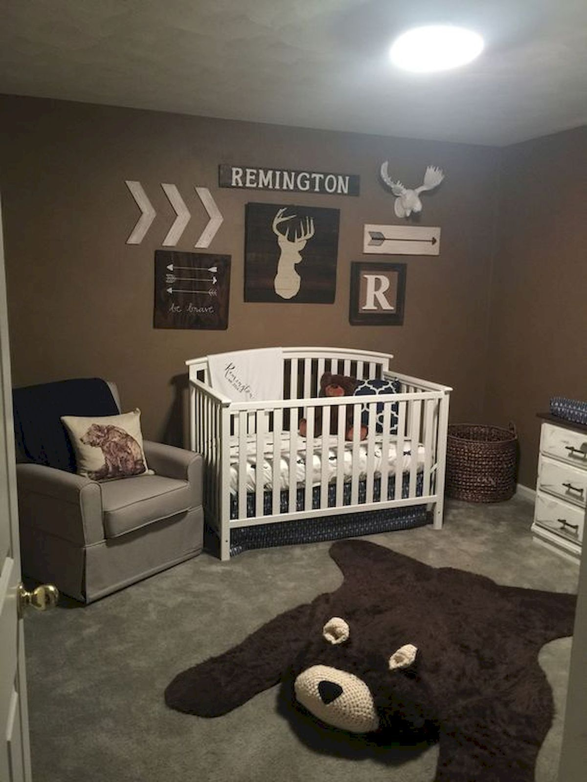 30 Adorable Rustic Nursery Room Ideas images