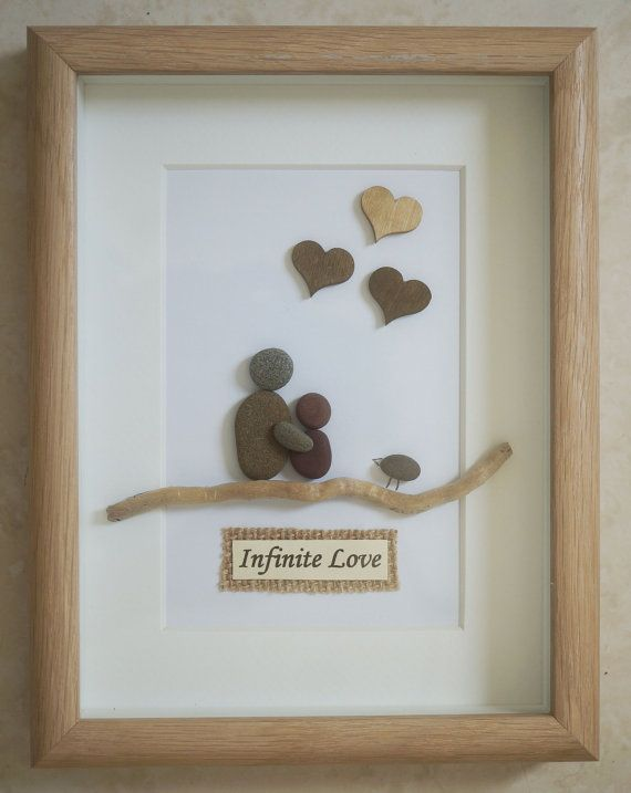 Pebble Art framed Picture- Infinite Love | Arte enmarcado, Infinito ...