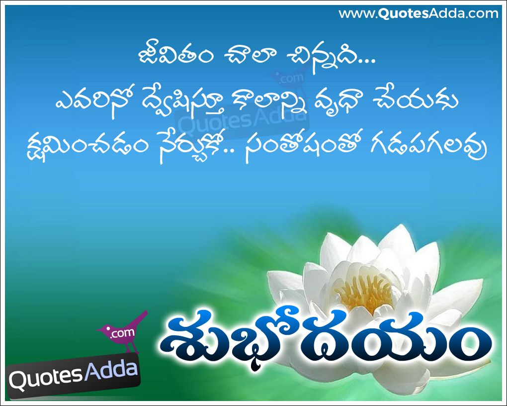 Telugu Quotes Morning quotes, Good morning quotes