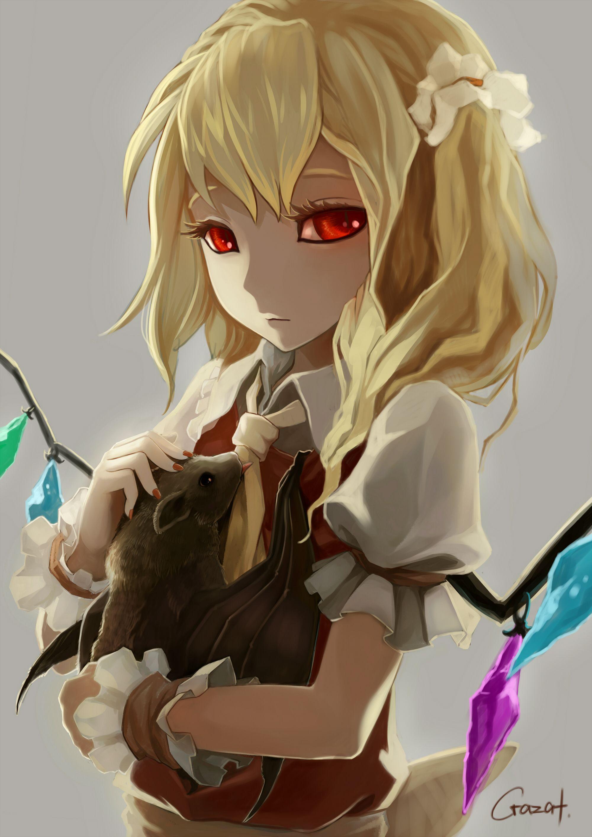 Anime girl eyes think, that