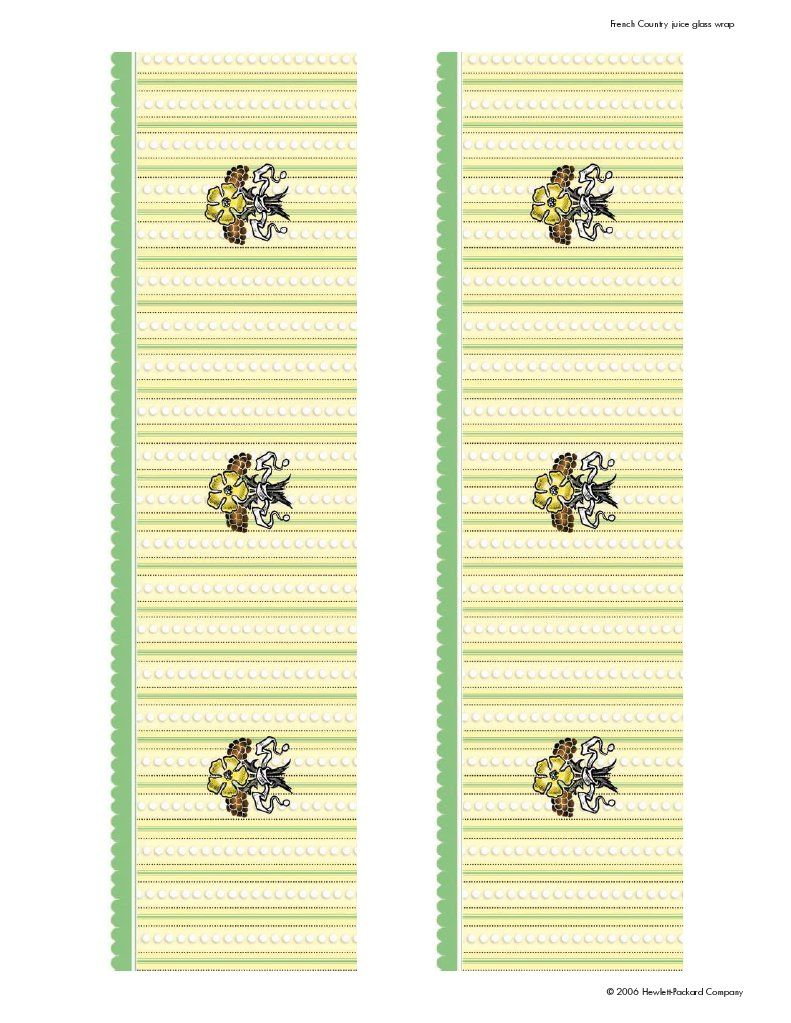 Yellow & Green Floral Glass Wraps